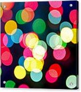 Blurred Christmas Lights Acrylic Print by Elena Elisseeva