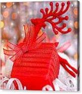 Christmas Gift Acrylic Print by Anna Omelchenko