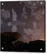 Constellations In A Night Sky Acrylic Print by Laurent Laveder