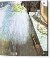 Dancer In Her Dressing Room Acrylic Print by Edgar Degas