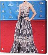 Dianna Agron Wearing A Carolina Herrera Acrylic Print by Everett