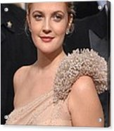 Drew Barrymore Wearing An Atelier Acrylic Print by Everett