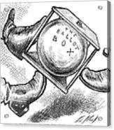 Election Cartoon, 1876 Acrylic Print by Granger