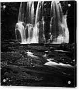 Ess-na-crub Waterfall On The Inver River In Glenariff Forest Park County Antrim Northern Ireland Uk Acrylic Print by Joe Fox