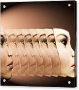 Face Transplant Acrylic Print by Victor Habbick Visions
