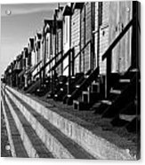 Frinton On Sea Beach Huts Acrylic Print by Darren Burroughs