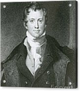 Humphry Davy, English Chemist Acrylic Print by Science Source