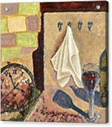 Kitchen Collage Acrylic Print by Susan Schmitz