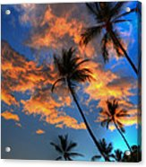 Maui Sunset Acrylic Print by Kelly Wade