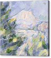 Mont Sainte-victoire Acrylic Print by Paul Cezanne