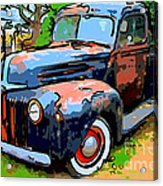Nostalgic Rusty Old Truck . 7d10270 Acrylic Print by Wingsdomain Art and Photography