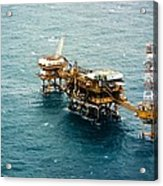 Oil Platform Acrylic Print by Arno Massee