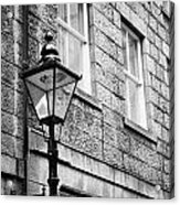 Old Sugg Gas Street Lights Converted To Run On Electric Lighting Aberdeen Scotland Uk Acrylic Print by Joe Fox