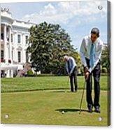 President Barack Obama And Vice Acrylic Print by Everett