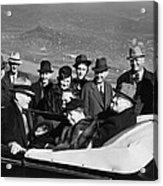 President Franklin D. Roosevelt In Car Acrylic Print by Everett