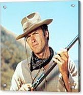 Rawhide, Clint Eastwood, 1959-66 Acrylic Print by Everett