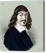 Rene Descartes, French Polymath Acrylic Print by Science Source