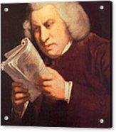 Samuel Johnson, English Author Acrylic Print by Photo Researchers