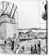 Statue Of Liberty, C1884 Acrylic Print by Granger