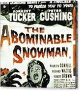 The Abominable Snowman, Aka The Acrylic Print by Everett
