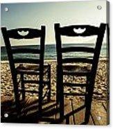 Two Chairs Acrylic Print by Joana Kruse