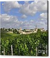 Village And Vineyard Of Saint-emilion. Gironde. France Acrylic Print by Bernard Jaubert