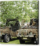 Vw Iltis Jeeps Used By Scout Or Recce Acrylic Print by Luc De Jaeger