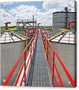 Corn Ethanol Processing Plant Acrylic Print by David Nunuk