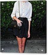 Alexa Chung Wearing A 3.1 Phillip Lim Acrylic Print by Everett