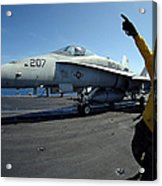 Aviation Boatswains Mate Directs Acrylic Print by Stocktrek Images
