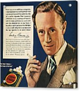 Lucky Strike Cigarette Ad Acrylic Print by Granger