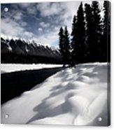 Open Water In Winter Acrylic Print by Mark Duffy