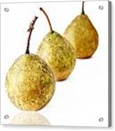 3 Pears Acrylic Print by Darren Fisher