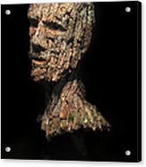 Revered  A Natural Portrait Bust Sculpture By Adam Long Acrylic Print by Adam Long