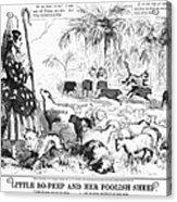Secession Cartoon, 1861 Acrylic Print by Granger