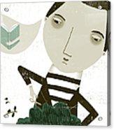 The Bonsai Pruner Acrylic Print by Luciano Lozano
