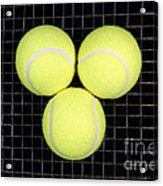 Time For Tennis Acrylic Print by John Van Decker