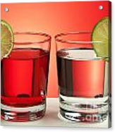 Two Red Drinks Acrylic Print by Blink Images