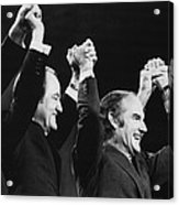 Us Elections. From Left Us Senator Acrylic Print by Everett