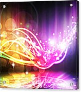 Abstract Lighting Effect  Acrylic Print by Setsiri Silapasuwanchai