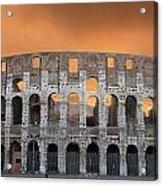 Colosseum. Rome Acrylic Print by Bernard Jaubert