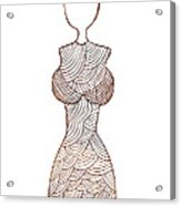 Fashion Sketch Acrylic Print by Frank Tschakert