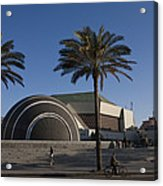 The Exterior Of The Famous Library Acrylic Print by Taylor S. Kennedy