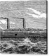 4 Wheel Steamship, 1867 Acrylic Print by Granger
