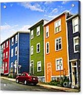 Colorful Houses In St. John's Newfoundland Acrylic Print by Elena Elisseeva