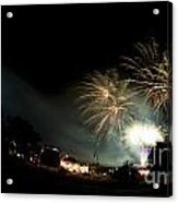 Fireworks Acrylic Print by Angel  Tarantella
