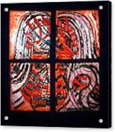 Jesus - Tile Acrylic Print by Gloria Ssali
