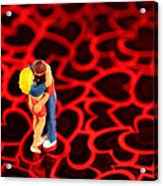 The Lovers In Valentine's Day Acrylic Print by Paul Ge