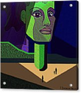 671 -   Mighty Diva Acrylic Print by Irmgard Schoendorf Welch