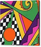 80's Glam Acrylic Print by Mandy Shupp